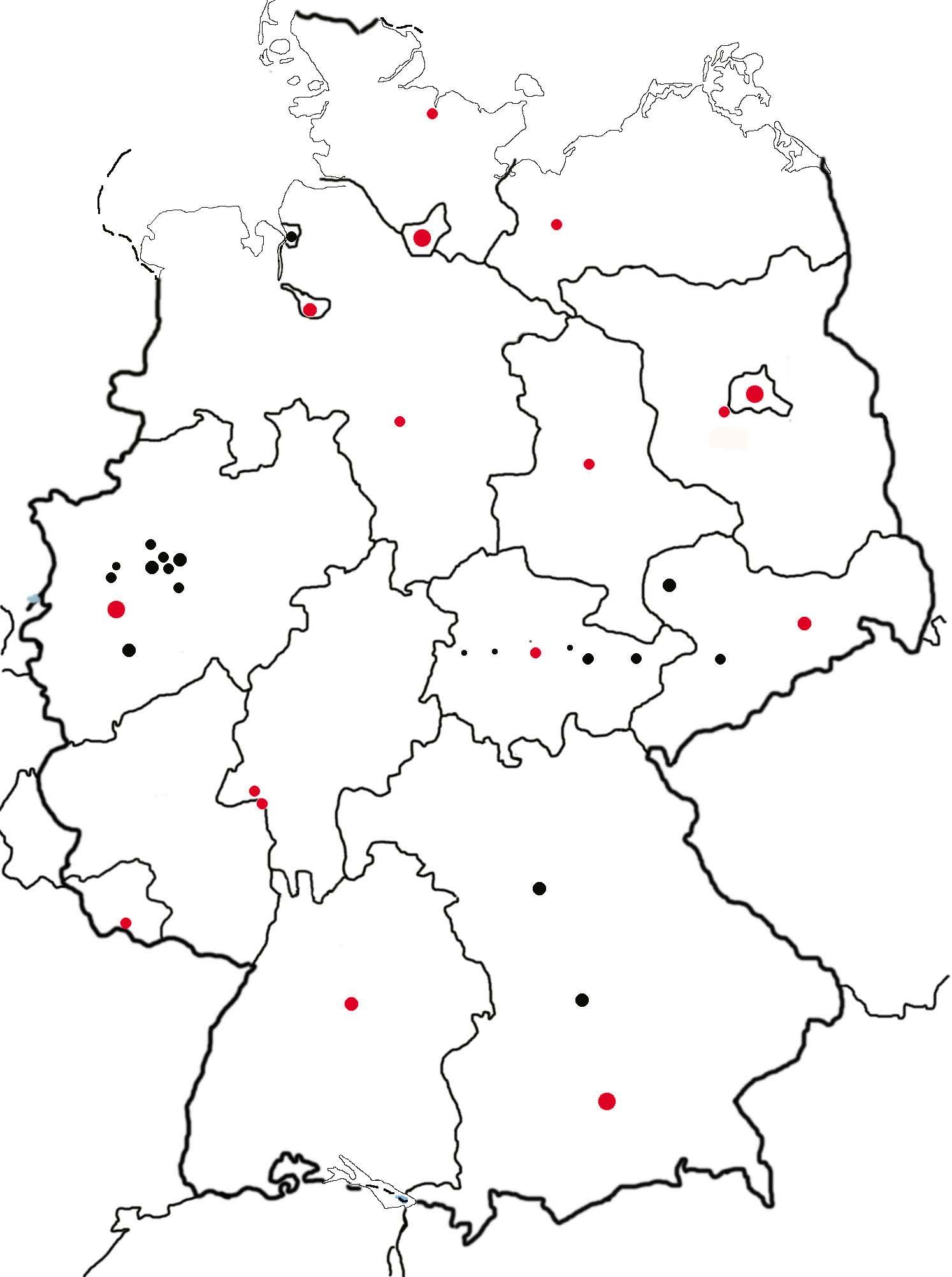 karte mit bundesländern